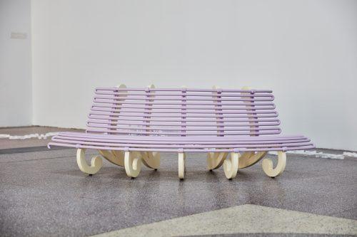 长椅2017(淡紫色,凸)