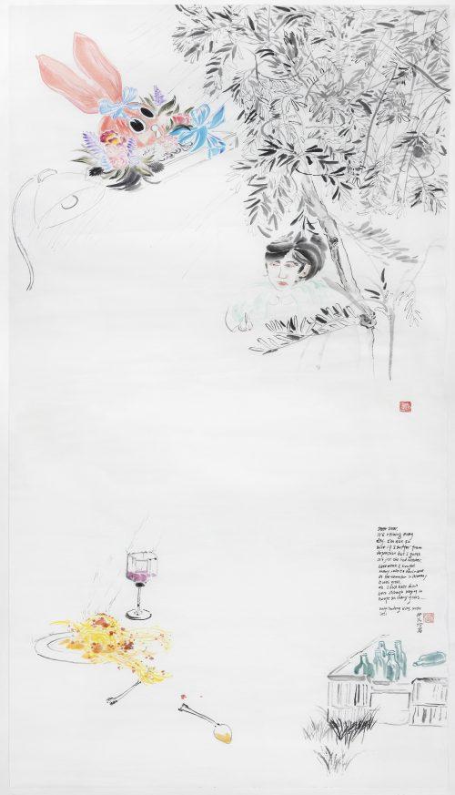 Evelyn Taocheng Wang, Pasta Ruin and Rabbit Chocolate, 2021